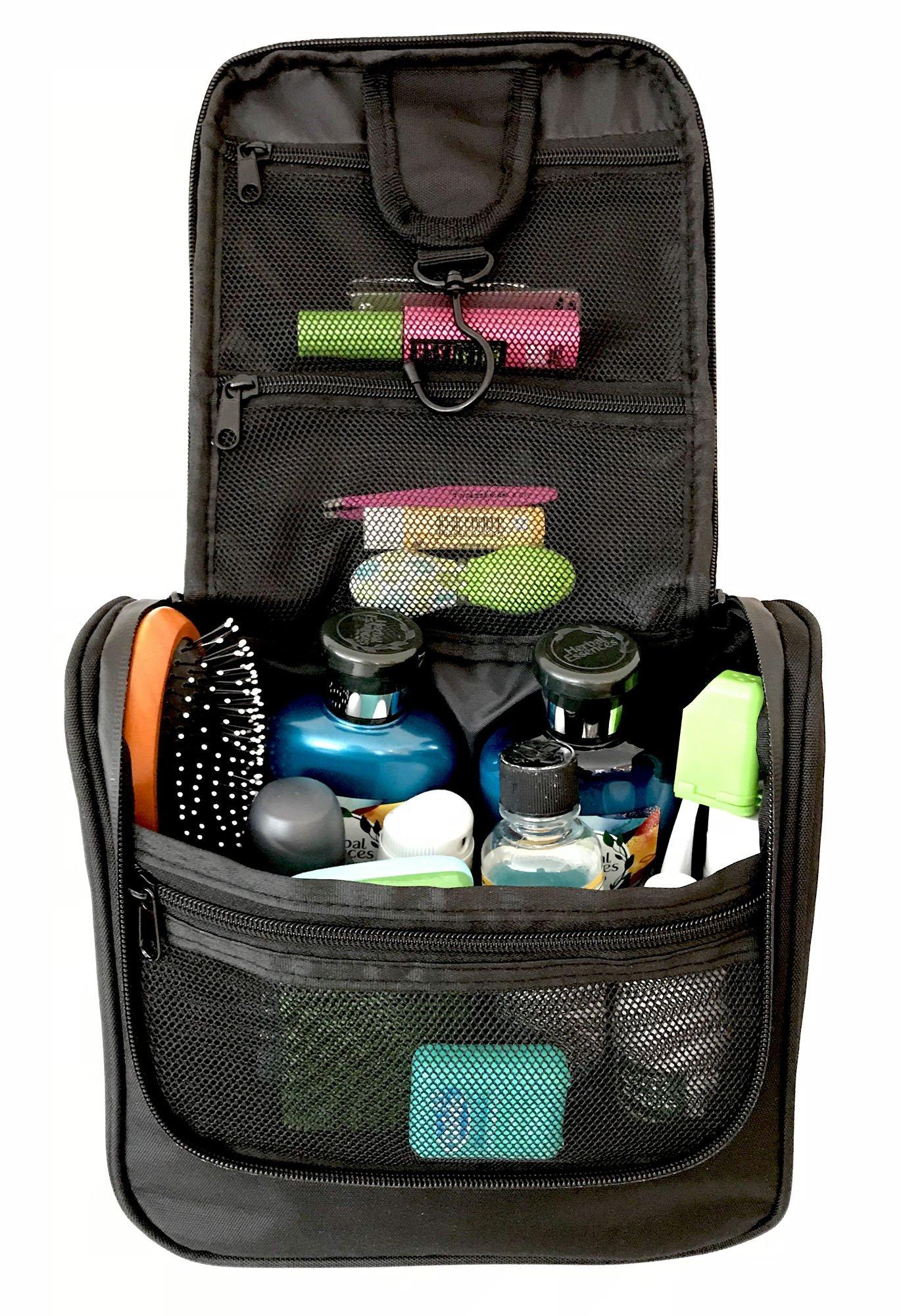 Get Quotations · WAYFARER SUPPLY Toiletry Bag. Pack-it-flat Hanging Travel  Kit 8f8bdfa1003f4