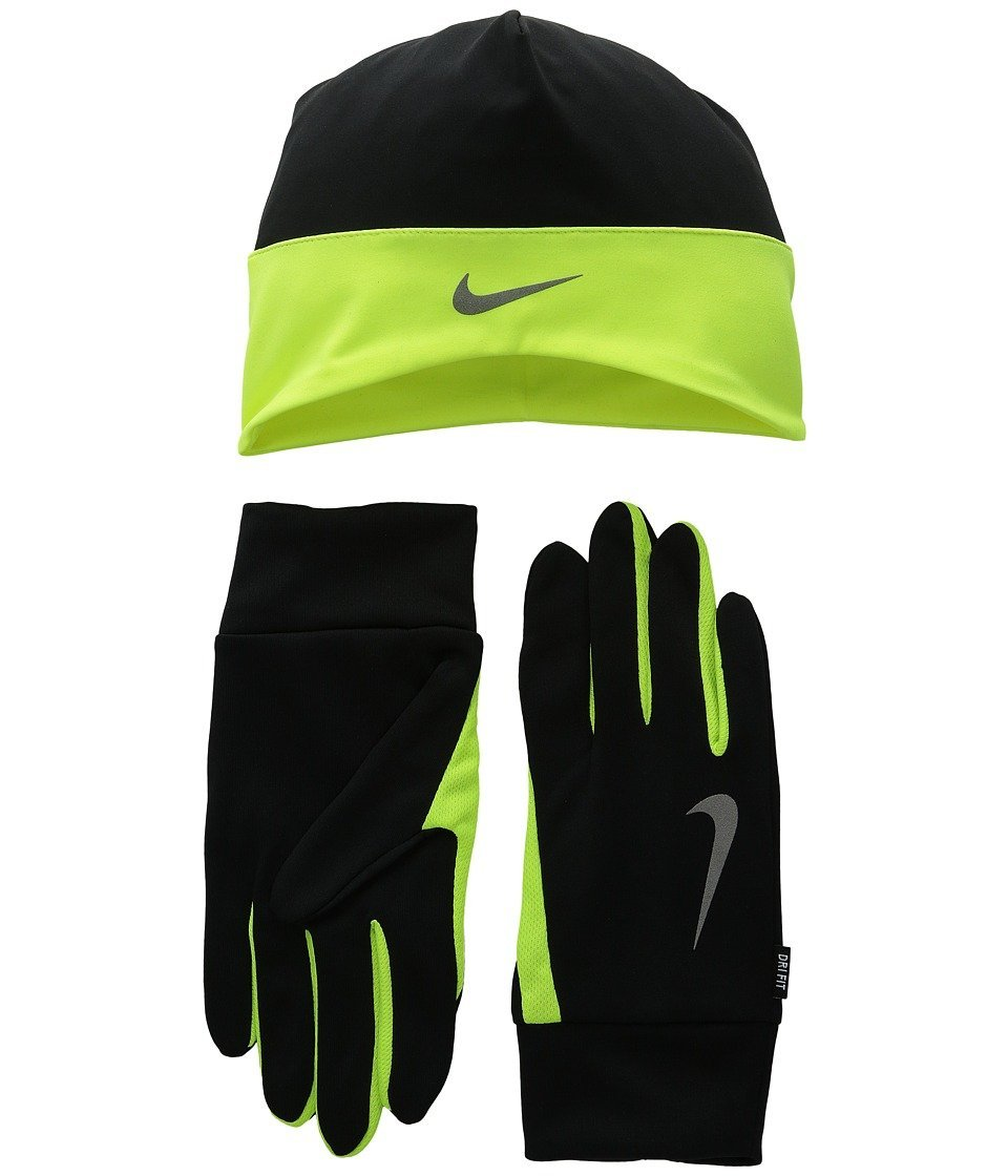 9bac5d341 Buy Nike Dri-Fit Mens Running Beanie/Glove Set X-Large(Black/Volt ...