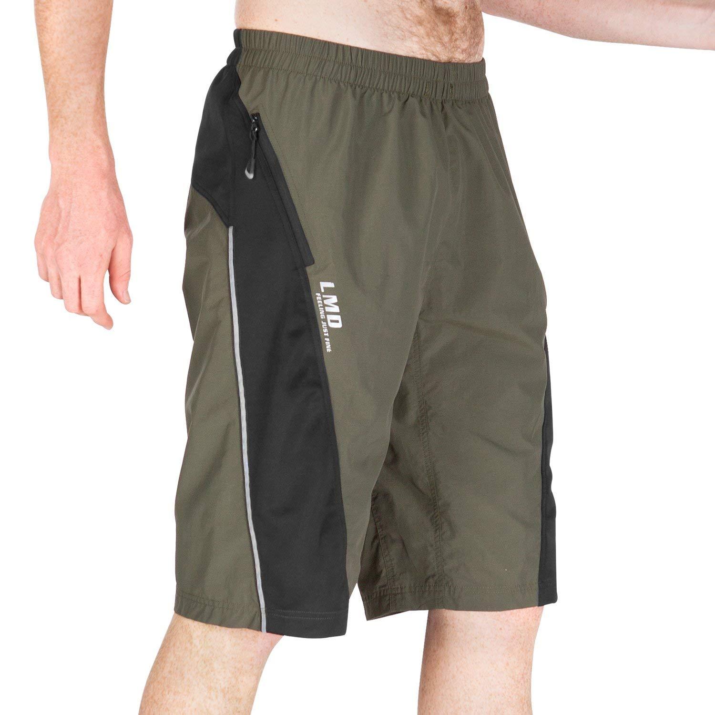 LAMEDA Men's MTB Bike Shorts, Breathable Loose Fit Cycling Bicycle Shorts
