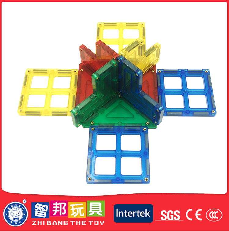 Multicoloured Multiple Activities Creative Magnetic Tile Desk Toys