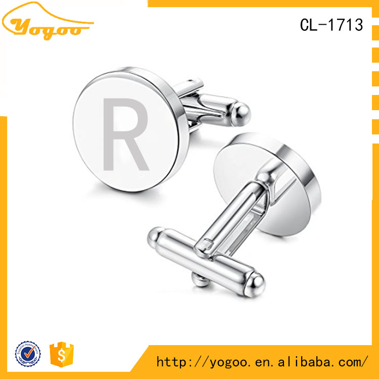 Swank Wooden Custom Logo Zinc Alloy Metal Cufflinks Value for Wedding Apparel