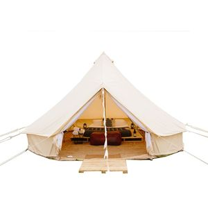 Outdoor Geodesic Dome Prefab Event PVC Steel House 6M Glamping Bell Canopy Tent