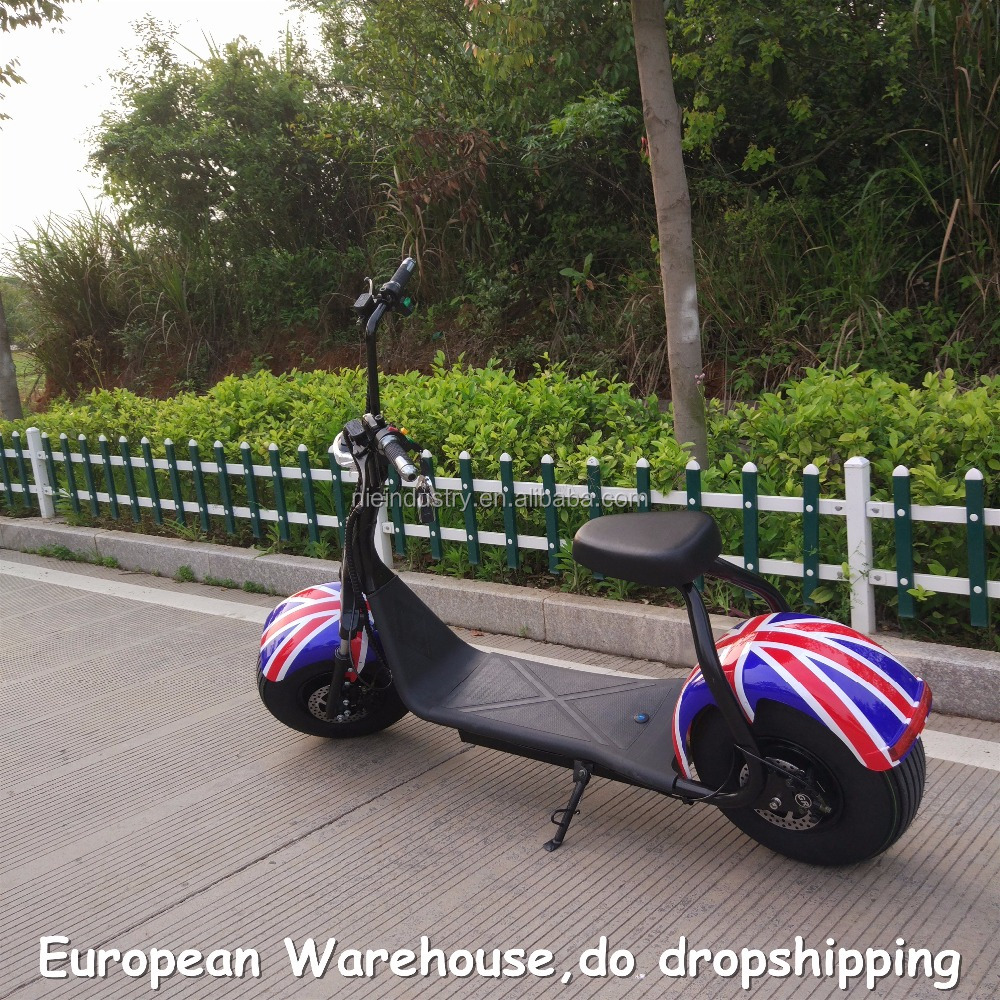 European Warehouse 2018 fashion electric motorcycle with lithium battery e-scooter electric 1500W 60V 12AH