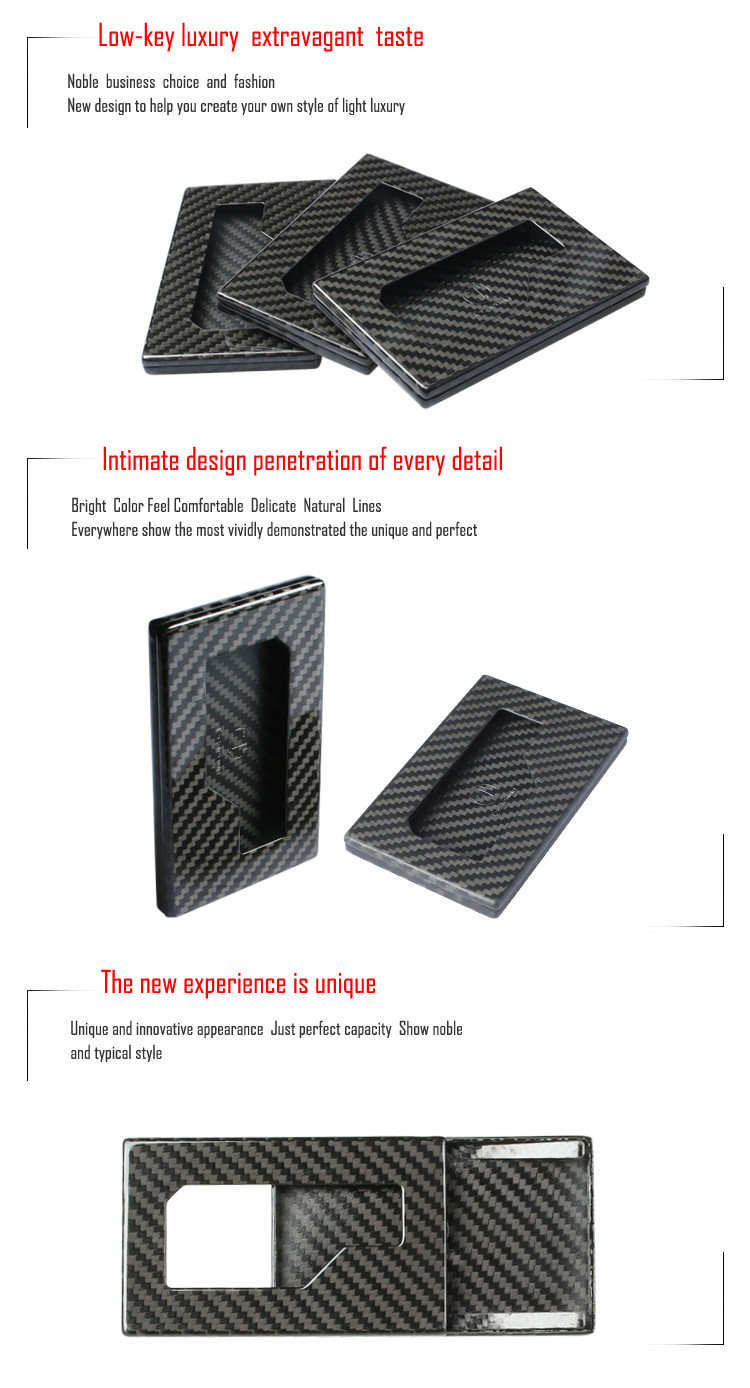 China Carbon Fibre Insurance Wallet Card Size Name Card Holder ...