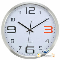 12 inch Metal Brushed Aluminum Wall Clock
