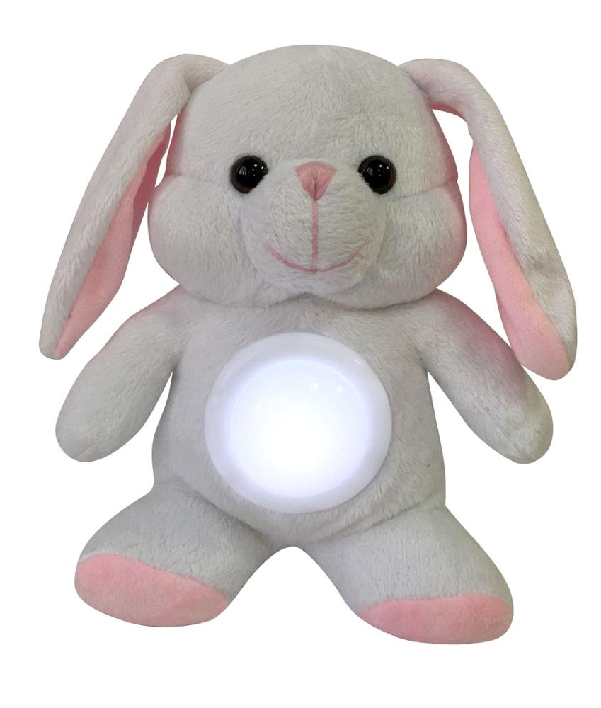 Kids toy animal plush night light <strong>rabbit</strong> toy with light