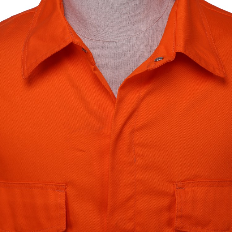 OEM mens work shirt industrial <strong>orange</strong> work shirt