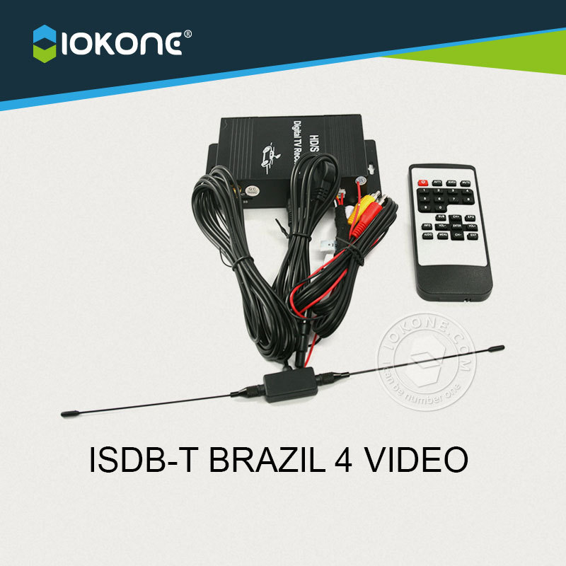 New Arrival !!! Car ISDB-T BRAZIL 4 VIDEO single TUNNER digital TV receiver box set top box