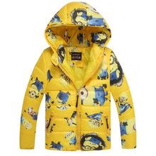 1 Set Retail, Children's Coat Cute Girls Warm Coat Winter Children Cotton Jacket thick Cotton-Padded Clothes