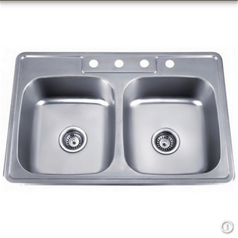 Undermount Kitchen Used Double Compartments Stainless Steel Kitchen Sinks for Sale
