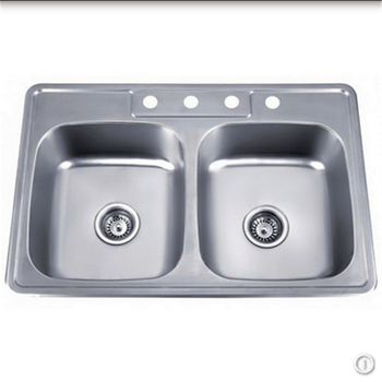 Undermount Kitchen Used Double Compartments Stainless Steel Sinks For
