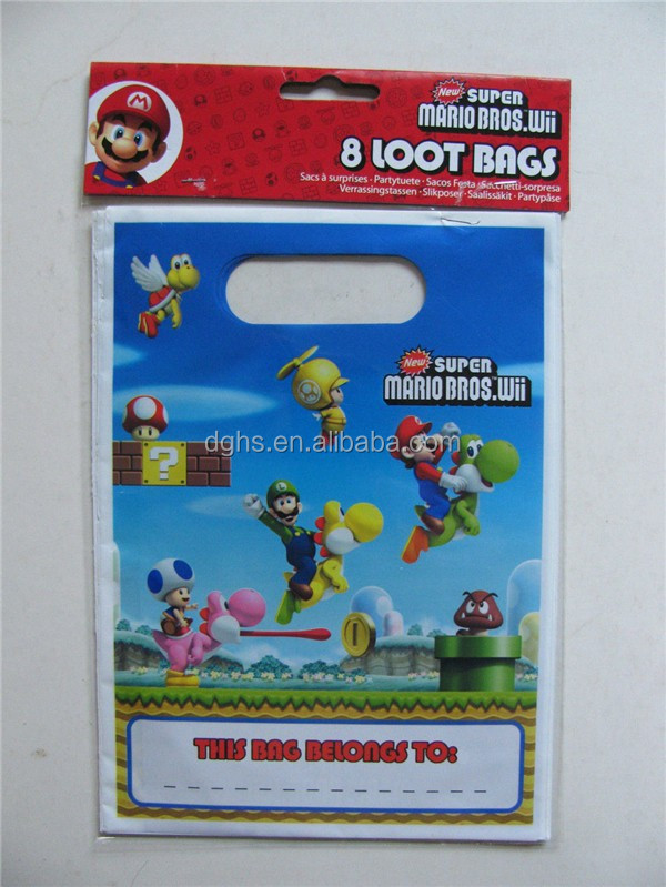 Die cut handle plastic bag/baby products/kazi building blocks