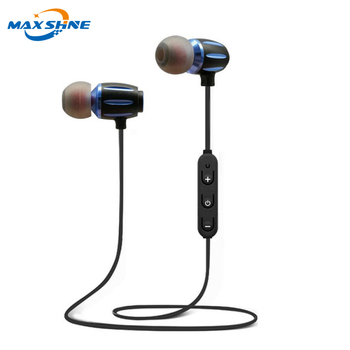 Maxshine high sound quality headphones blue tooth 2018 4.1 blue tooth headset ear buds