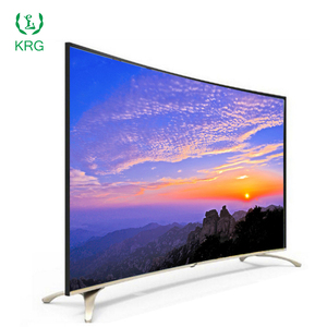 "Factory Wholesale 43"" 50"" 55"" 60"" 65"" 4k smart tv with curved base"