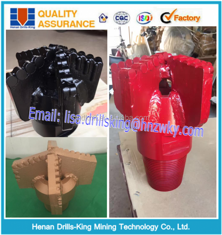 Water Well Drilling PDC Insert 3 Blades Wings Drag Bit For Coal Mine