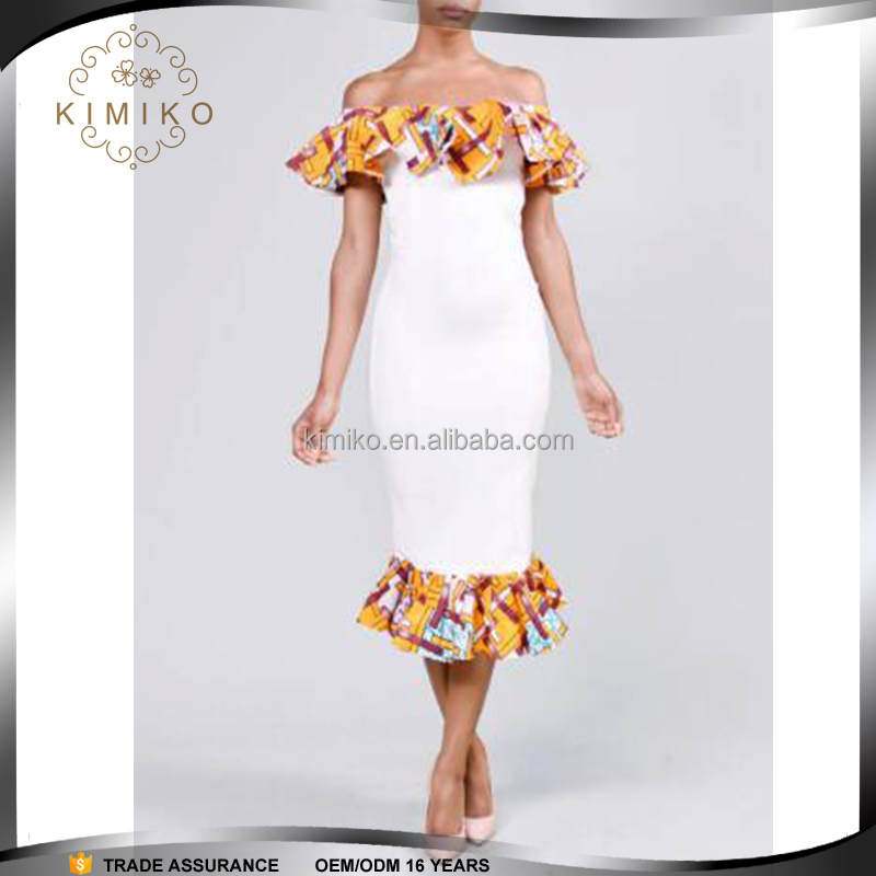 China Wholesale Factory Price African Kitenge Design African Traditional Print Short Dress