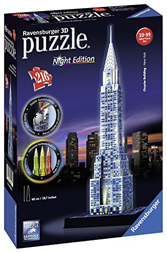 09082f64c49 Get Quotations · Ravensburger Chrysler Building Night Edition 216 Piece 3D  Jigsaw Puzzle for Kids and Adults - Easy
