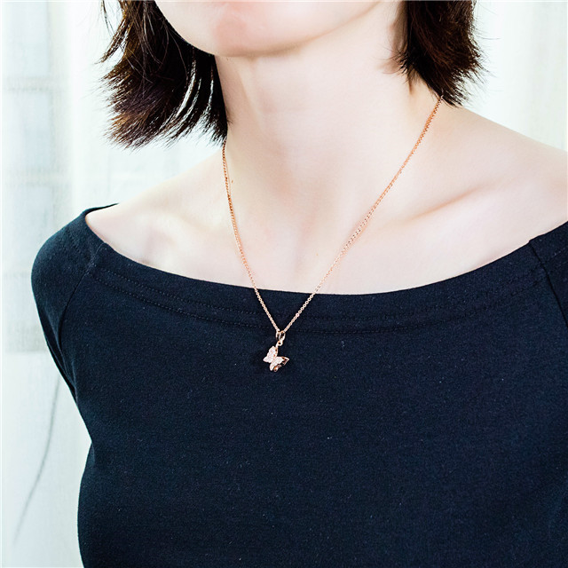 Delta Sigma Theta Butterfly Pendant Filled Gold Jewelry Fashion Women Personalized Necklace