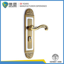 Stainless steel lever upvc classic long plate door handle