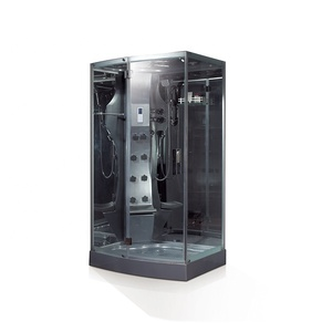 Foshan black color accessories set glass door soaking baths acrylic Model Mobile shower and steam room