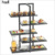 Unique catering decorations food modern catering display shelves , 3 tier black buffet display equipment wood