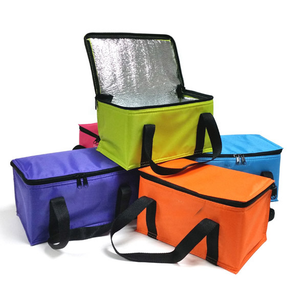Custom Imprint Portable Non Woven Large Insulated Tote Bag Thermal Lunch Cooler Bag