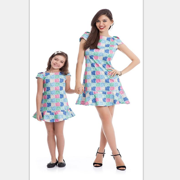 e847e463786d Amazon Hot Sell Princess Style Dress For Mom And Kids Hight Quality ...