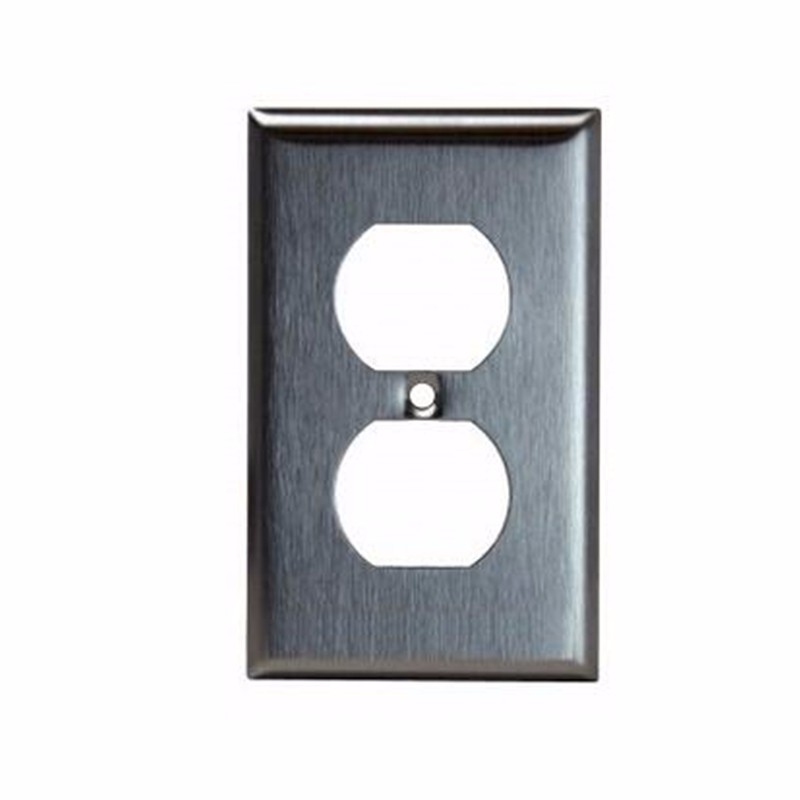 shanghai Linsky UL listed outlet wall cover plate residential decorative 1 gang duplex stainless steel plate
