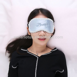 China Wholesale special electric soft silk flower women sleep eye mask
