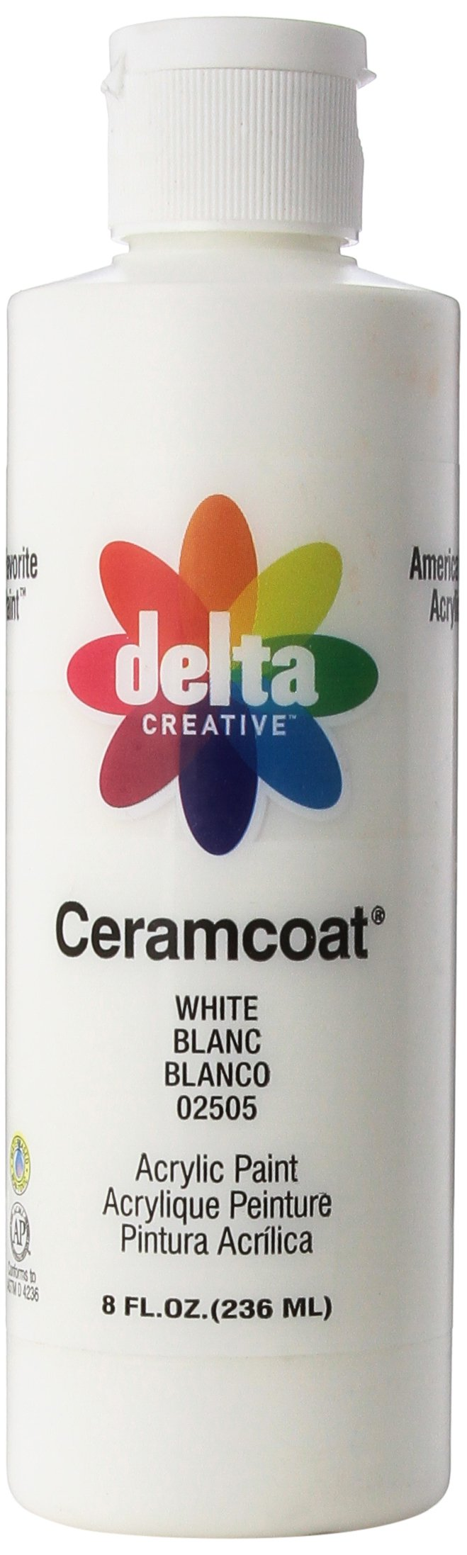 Delta Creative Ceramcoat Acrylic Paint in Assorted Colors (8 oz), 025058, White