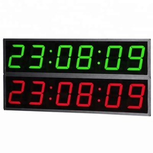 6 Digit 4 Inch Countdown Count up Led Digital Display Vehicle Electronic Clock