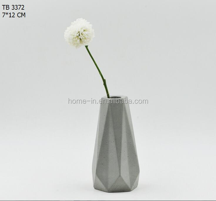 Cement Concrete Vase Nordic Style Small Flower Vase Buy Wooden