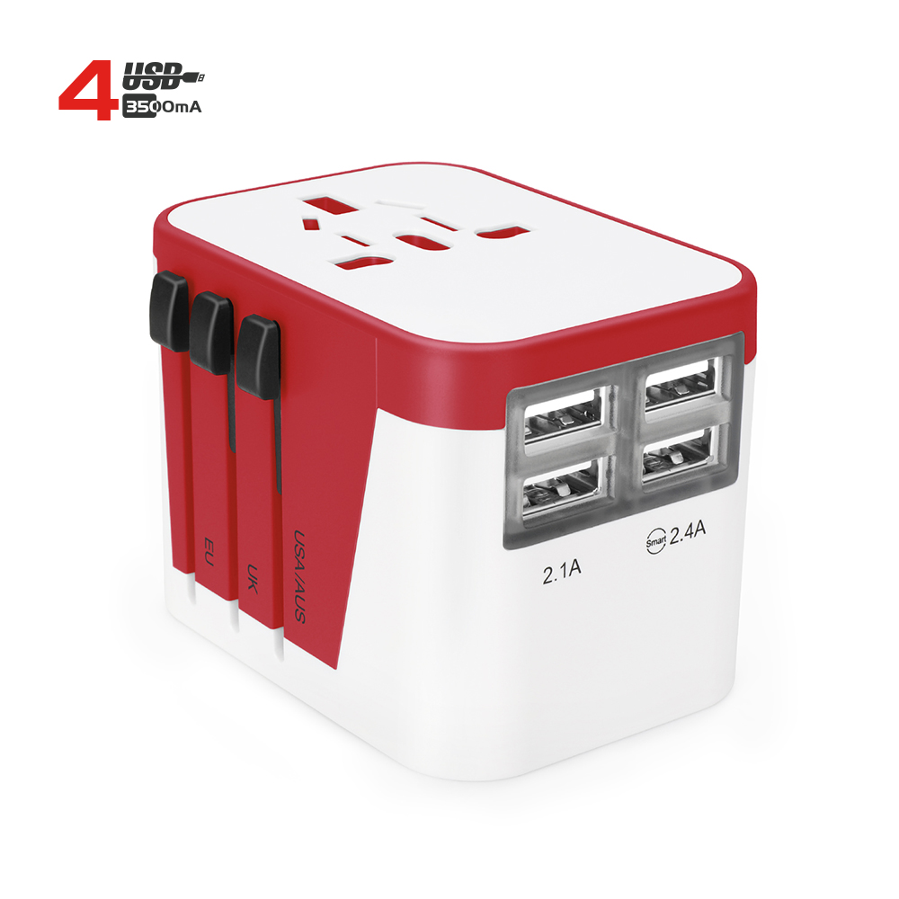 2019 World Travel Adapter USB AC Power <strong>Plug</strong> 4 USB Charger Universal Travel adapter Factory