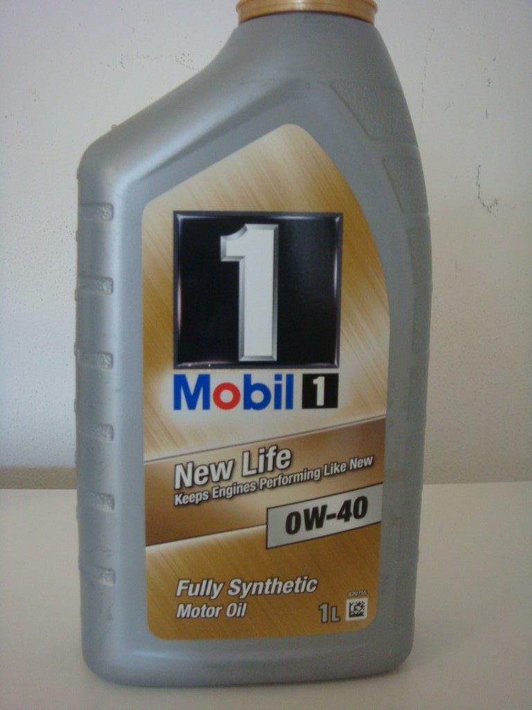 Engine oil Fully Synthetic Mobil 1 New Life 0W40 1 Liter bottle