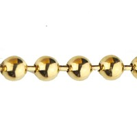Miss Jewelry Gold Plated Stainless Steel Bead Ball Chain Jewelry Fashion Necklace
