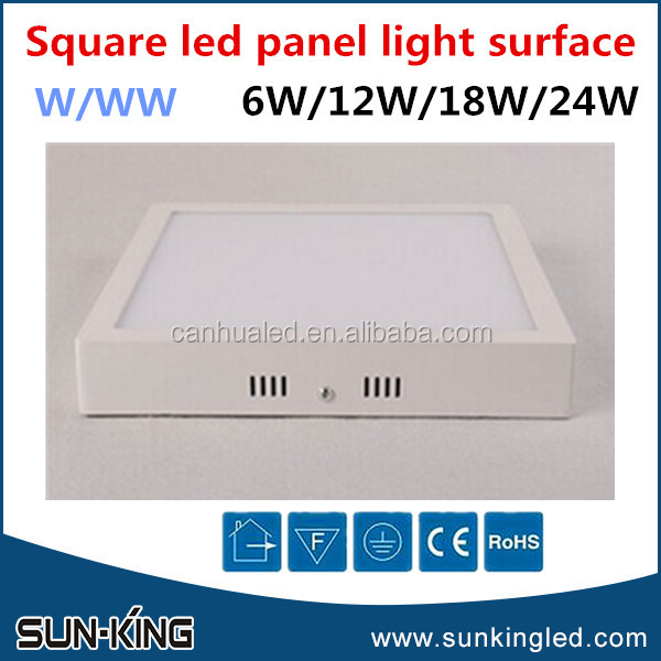 Indoor warm white 2700k 3000k meeting room office ceiling surface mounted 20watts 20W led square panel light