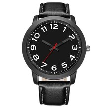 LongBo Most Vintage Shenzhen Manufacturers Japan Movt Big Leather Strap All Black Military Watches For Mens