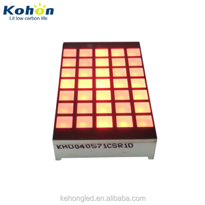 Super Bright 4mm Square dot 5x7 dot matrix KHD040571CSR1D Red color 629~635nm 5x7 LED Dot Matrix