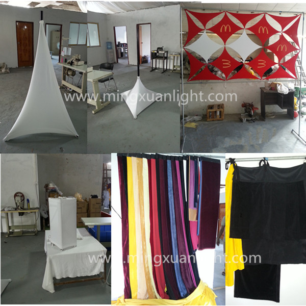 Cheap customize wedding stage backdrop decoration tent cloth