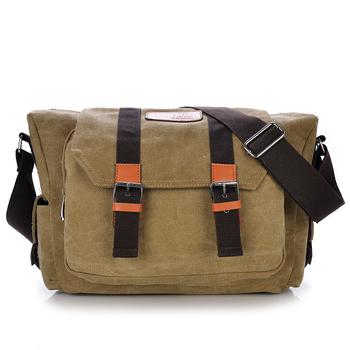 Hot selling canvas shoulder strap messenger bag men for wholesaler ... b1c14c92b926d
