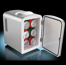 desktop Mini car fridge with thermo cooler box and warmer for promotion 4L