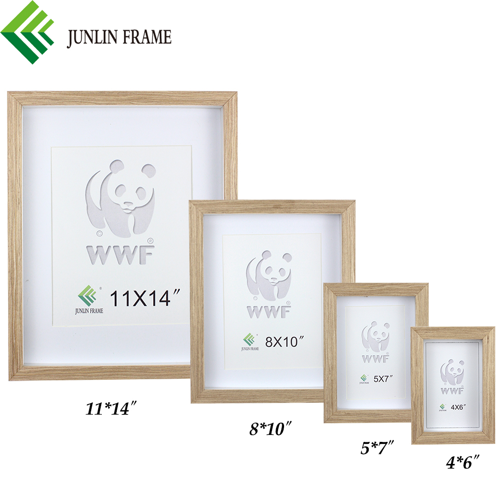 Hot sale gray style wooden frame photo