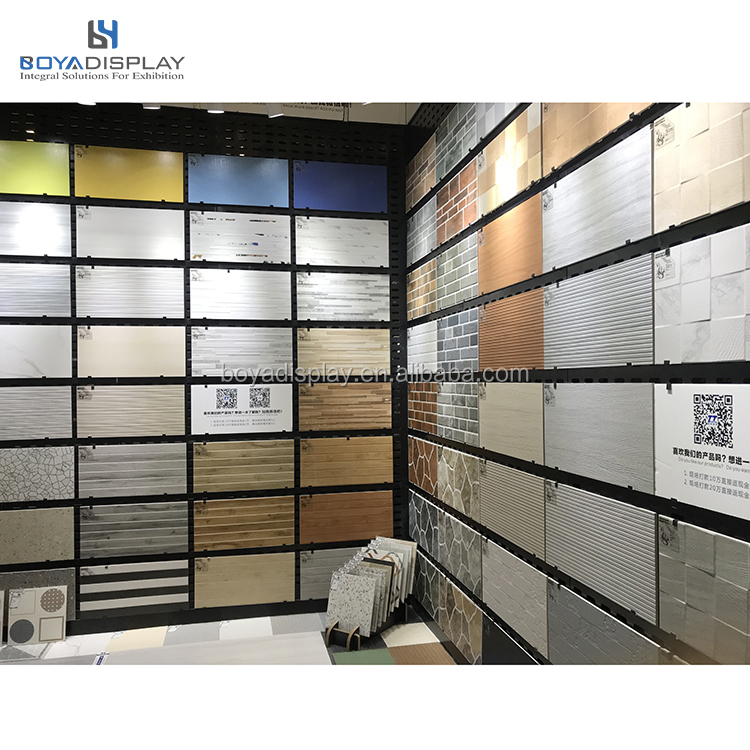 2020 New Customized size high quality Mounted Tile <strong>Display</strong> Wall racks