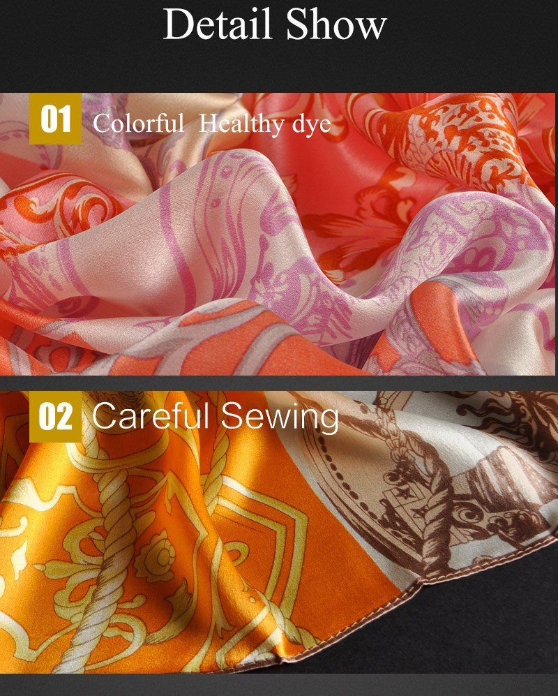 China manufacturers spring/summer/fall ladies shawl floral women 100% silk mosi scarf custom digital print 100 pure silk scarves