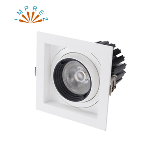 White-square Dimmable Led COB Ceiling led downlight 10W 20W 30W rotating 110/220V surface mounted Indoor Lighting