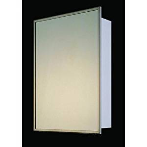 """Deluxe Surface Mounted Medicine Cabinets Size / Mount / Edge: 30"""" H x 24"""" W / Recessed / Stainless Steel Frame"""