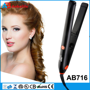 Anbo Curling Iron 1.25 inch with Tourmaline Ceramic Coating, Hair Curling Wand with Anti-scalding Insulated Tip, Hair Salon Curl