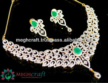 87b4c85db69 American Diamond Jewellery - Wholesale Cubic Zirconia Necklace Set - Gold  Plated Diamond Jewellery Set - Gift For Her - Buy American Diamond  Jewellery ...