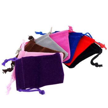 Soft Velvet Pouches Drawstrings for Jewelry Packaging