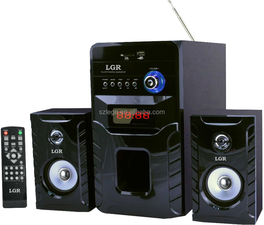 Marca personalizada altofalante do computador 2.1 big bass subwoofer home theater sistema de som